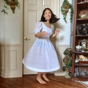 Beautiful Sheer Floral Prairie Dress